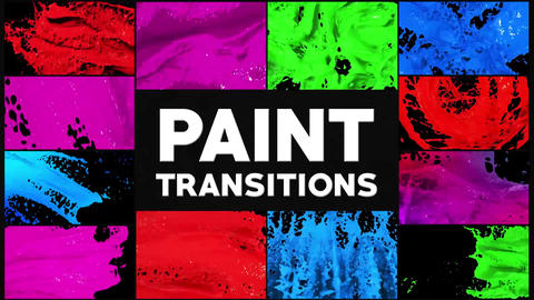 Paint Transitions Plantillas de Motion Graphics