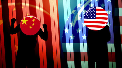 American and Chinese dancing stock footage Videos animados
