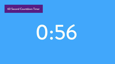 60 Second Countdown Timer Title Motion Graphics Template