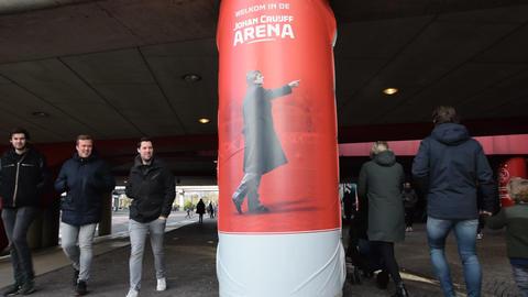 Johan Cruijff On A Pillar At The Johan Cruijff Arena Amsterdam The Netherlands 2020 ライブ動画
