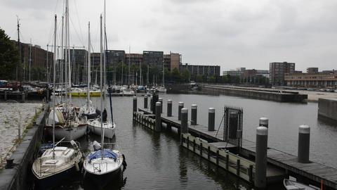 Krijn Taconiskade Street Harbor At IJburg Amsterdam The Netherlands 2019 ライブ動画