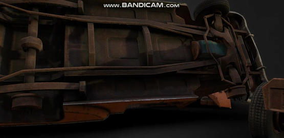Old rusty Game Ready car Modelo 3D