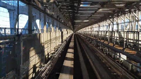 A Bullet Train Traveling Fast Above The Rail Tracks ライブ動画