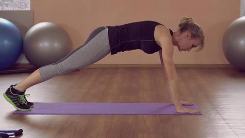 girl doing physical exercises strong core ライブ動画