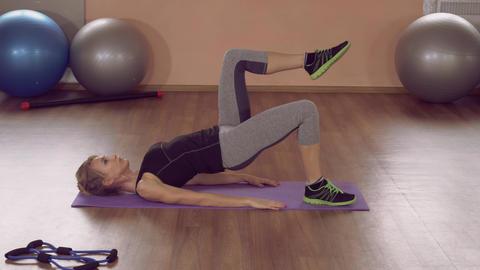girl doing physical exercises backside ライブ動画