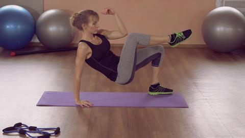 girl doing physical exercises for strong ライブ動画