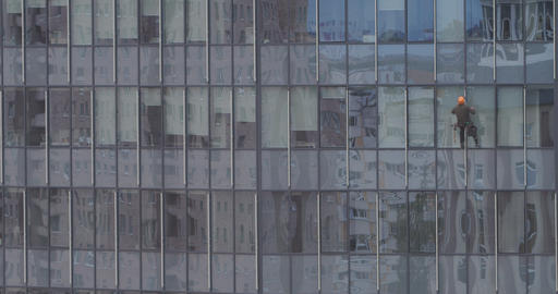 skyscraper window glass cleaner alone Live Action