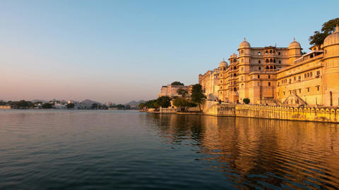 Udaipur Rajasthan India Time lapse at sunset Travel destination and tourism landmarks 2 Live Action