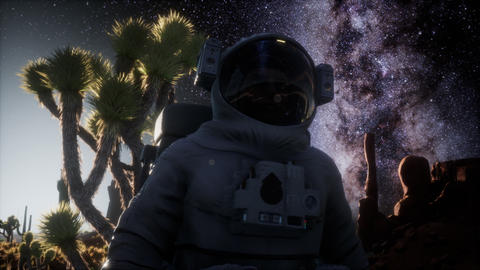 Astronaut and Star Milky Way Formation in Death Valley GIF