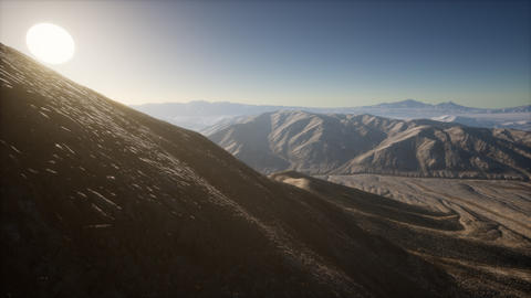 Mountains landscape in Afghanistan at sunset GIF