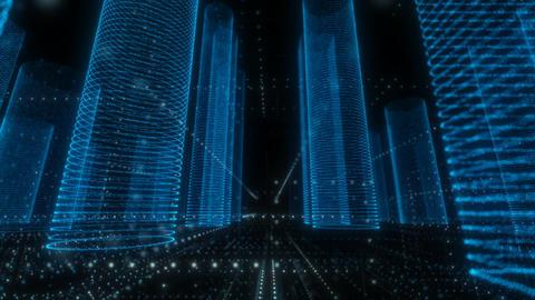 Blue Digital City Videos animados
