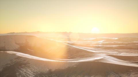 Red Sand Desert Dunes at Sunset GIF