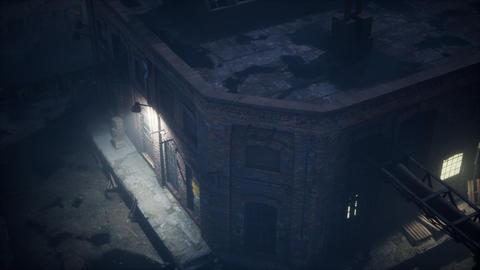 Aerial view of Old factory Acción en vivo