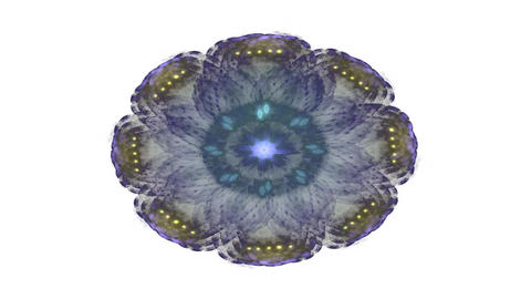 Highly ornamental kaleidoscopic animation in psychedelic colours. Abstract flame CG動画
