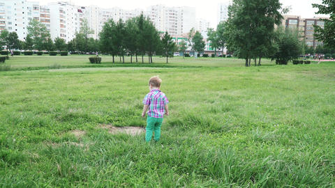 Boy on the lawn running away ライブ動画