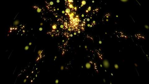 踊る花火のキラキラパーティクル2 CG動画