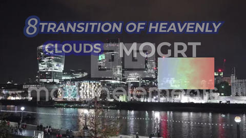 Transitions Of Heavenly Clouds MOGRT Plantillas de Motion Graphics