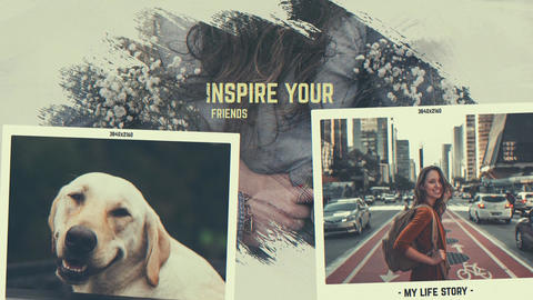 Friends Story - Brush Memories Slideshow After Effects Template