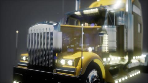 bright american lorry track in studio GIF