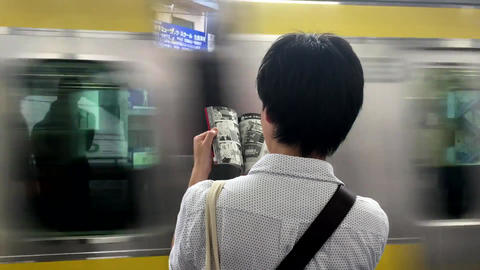 Person Reading While Waiting Live Action
