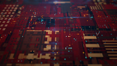 Sci Fi Industrial Grid. Futuristic Concept Design Animation