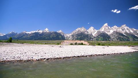 River and peaks of Grand Teton National Park, USA GIF