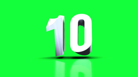 COUNTDOWN 3D Green background Videos animados