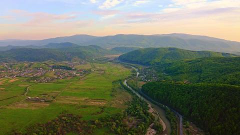 beautiful nature landscape aerial view Live Action