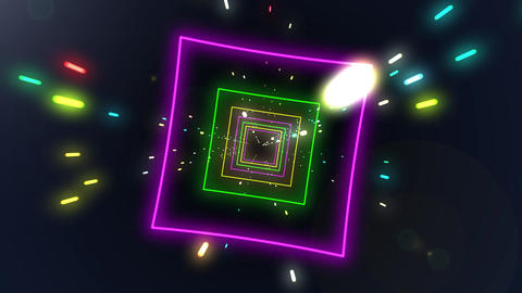 Flight through a sci-fi tunnel Loop Animation
