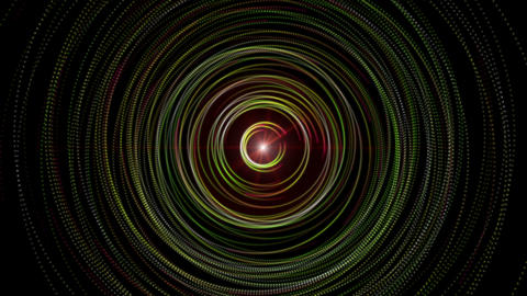 Futuristic video animation with moving stripe object and lights, loop HD Animation