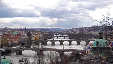 Prague bridges from above ライブ動画
