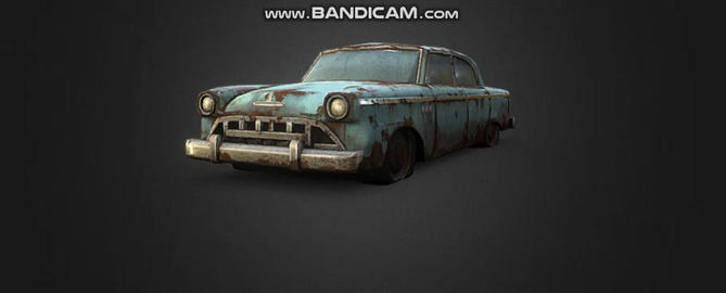 OLD Car Vintage 1950 3D Model