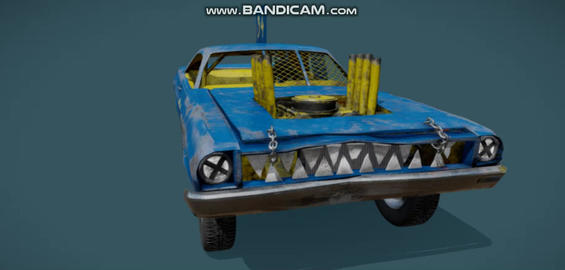 Demolition derby car Modelo 3D