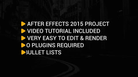 Clean Text Bullet Lists After Effects Template