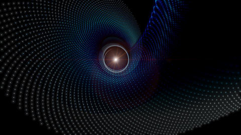 Futuristic video animation with particle object and light in motion, loop HD Videos animados