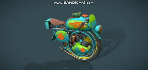 Monobike mystery machine 3D Model