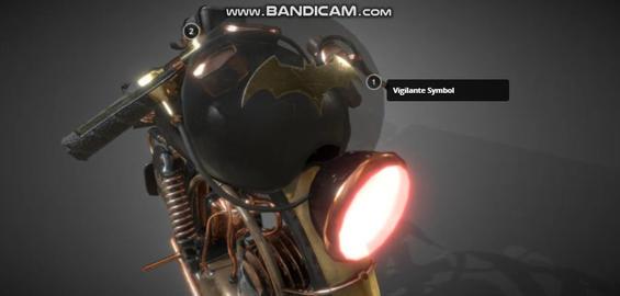 Batman monobike 3D Model