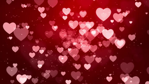 Red hearts rising up falling love sweet Romantic GIF