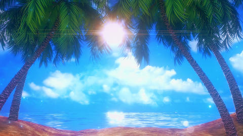 Sunny Day on the Beach VJ Loop Motion Graphic Background Animation