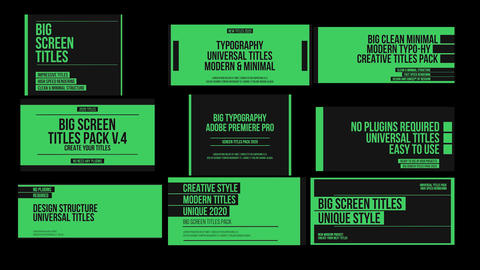 Big Screen Titles v.4 Premiere Pro Template