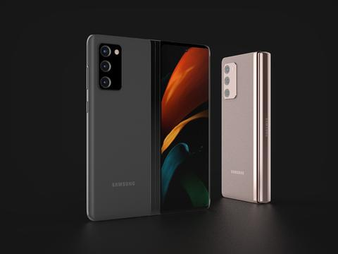 Samsung Galaxy Fold 2 In Official Colors 3D Model