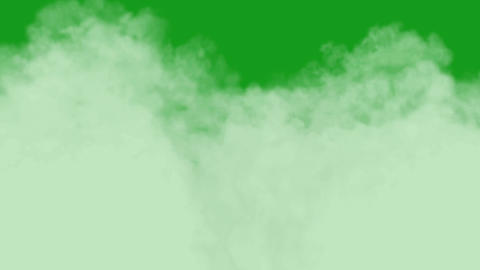 White smoke motion graphics with green screen background Animation