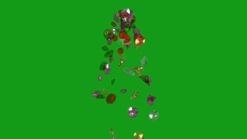 Falling diamonds motion graphics with screen background Animation