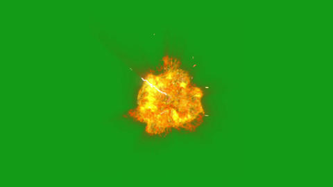 Fire energy motion graphics with green screen background Animation
