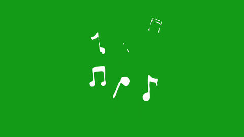 Musical symbols motion graphics with green screen background Animation