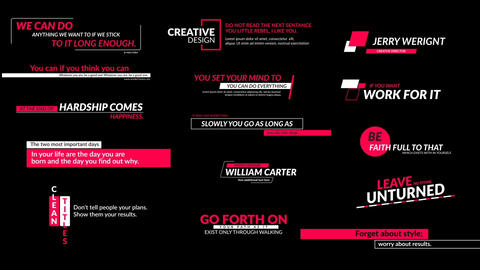 Social Media Titles 2 0 Motion Graphics Template