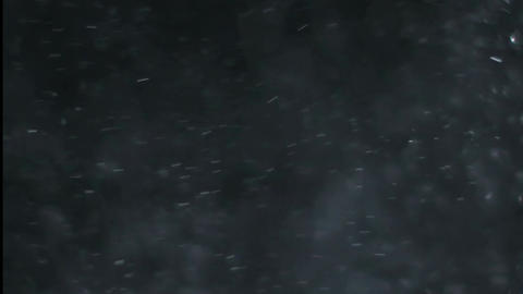 Dust and smoke motion graphics with night background Animation