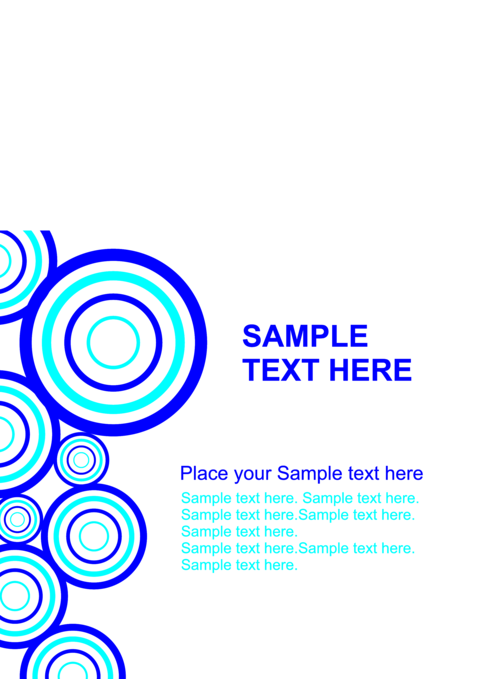 Blue abstract modern Circle geometric background Vector