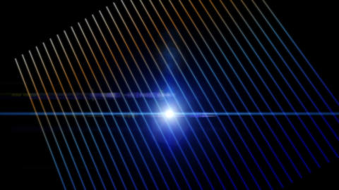 Fantastic video animation with moving stripe particle object and lights, loop HD Videos animados