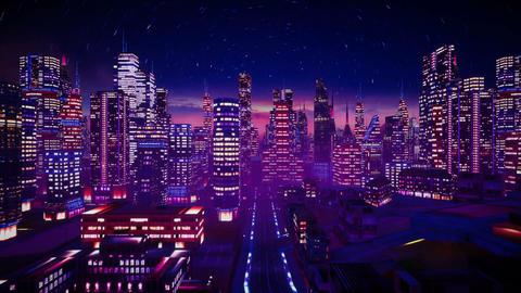 Retro city Animation